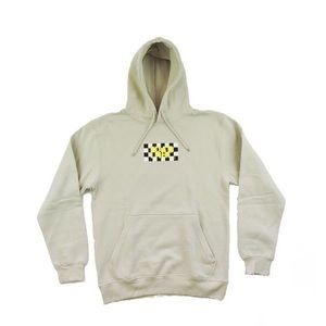 Other - Trap Checkered Hoodie - Beige w/ Yellow