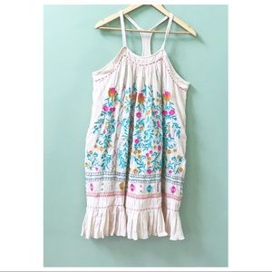 Anthro Embroidered Dress