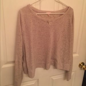 Cream colored crop sweater from Victoria Secret