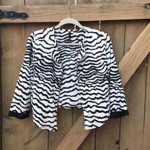 Love Culture zebra cropped cardigan size S