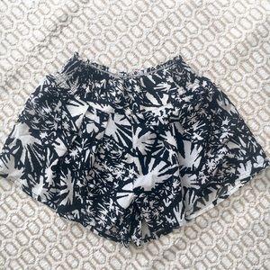 Lulu's B&W Mini Shorts