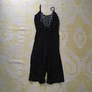 Old Navy Embroidered Wide Leg Jumpsuit Romper