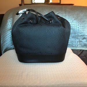 DKNY Black Crossbody Crosswalk Jacquard hand Bag