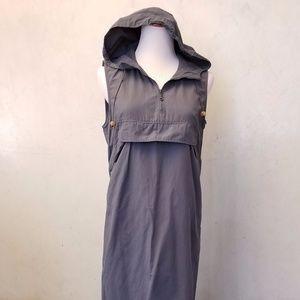 Sisley gray hooded dress