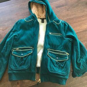 Mark Jacobs fur lined zip up