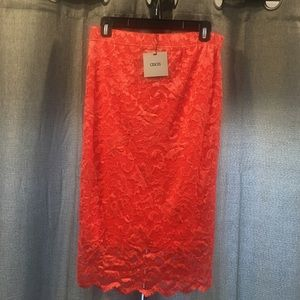 Gorgeous ASOS Lace Coral Skirt