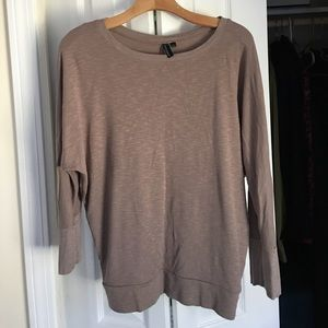 Long sleeve brown top