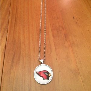 Jewelry - NWOT Arizona Cardinals Domed Glass Necklace