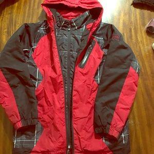 Boys 14/16 Red & Black Winter Coat