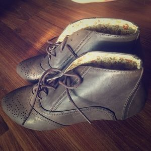 Papaya oxford boots booties