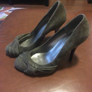 Guess Grey Velvet Shoes