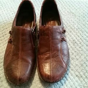 Clarks Distressed Leather Shoes