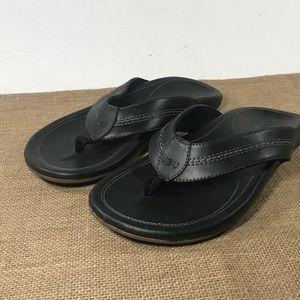 Mens 8 Black Flip Flops Jambu