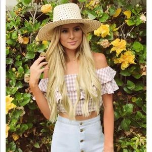 LF Cropped Gingham Top - As seen on Amanda Stanton