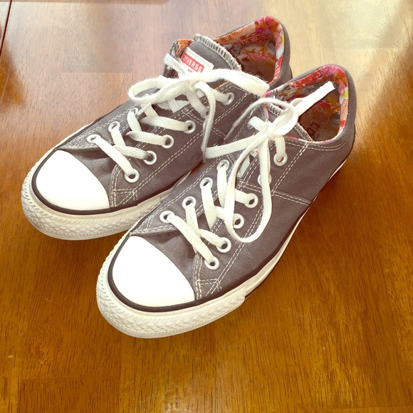 e9f7e3ae0a778a Converse Shoes - Converse gray padded tongue Hawaiian print in 8