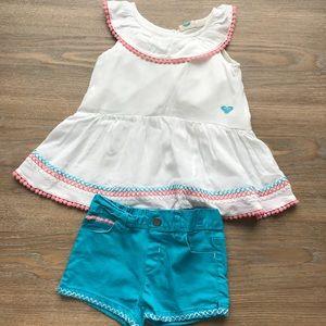 Roxy Girl Top & Shorts Set for Toddler Girl