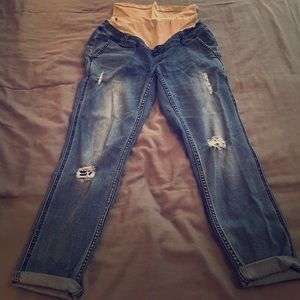 Pants - [Maternity] Jean Capri Pants - Distressed