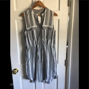 H&m size 10 striped sleeveless dress