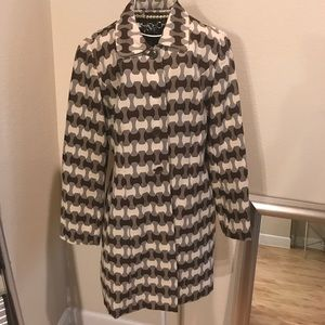 Brown and tan lightweight coat