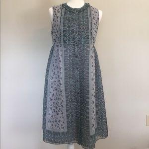 Anna Sui Anthropologie Silk Floral Dress Size 6
