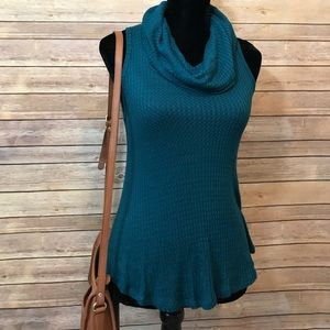 Sweaters - Sleeveless Cowl Neck Sweater