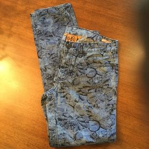 Tory Burch Super Skinny Jeans! Ivy, Floral.