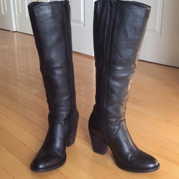 7919306d4a1 Steve Madden Carrter tall black leather boots