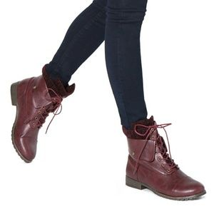Shoes - Wine colored boots
