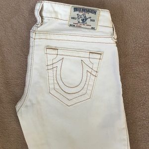 TRUE RELIGION White Skinny Jeans