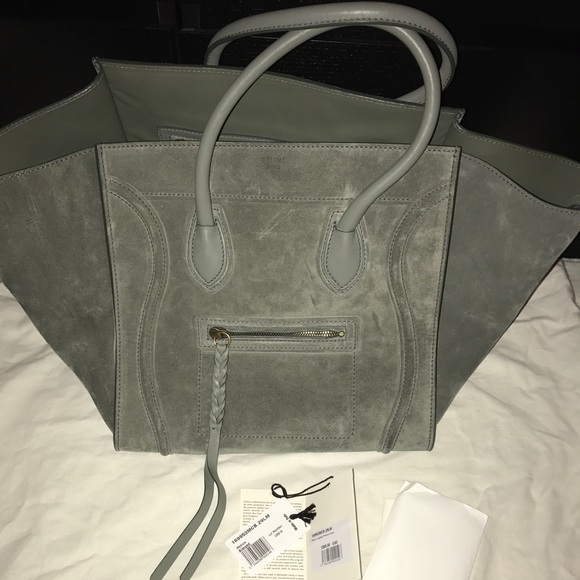 25fded720028 Celine Phantom Luggage Tote in Almond Suede.