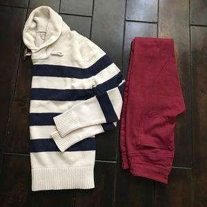 Navy and cream nautical sweater