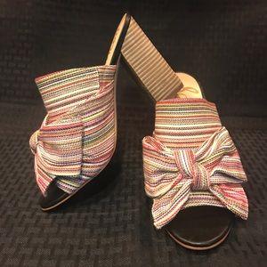 Sam Edelman Yumi Bow Mule Multi Stripe Size 8.5