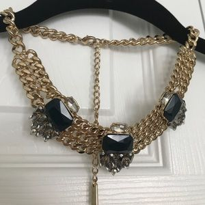 Jewelmint Statement necklace, Navy/Gold