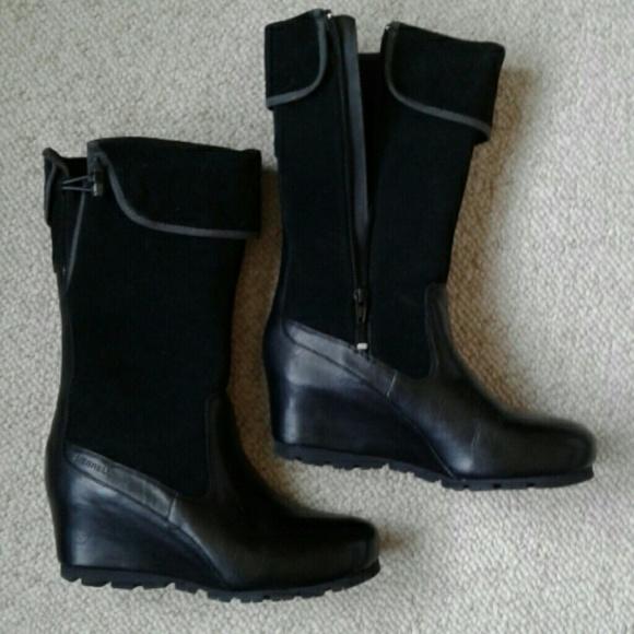 e3a90590a58 Merrell Wedgetarian Lyla Wedge Boots. M 5a07370336d59498ac0ce54b
