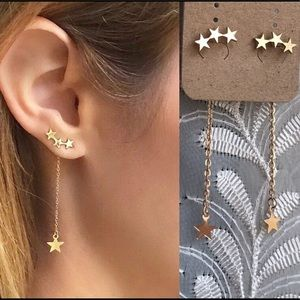 ☀️NEW☀️STARS Dangling Double Side Earrings