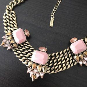 Jewelmint Statement necklace, Pink/Antique Gold