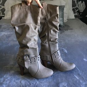 Western style studded boots