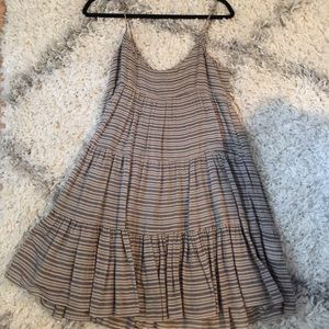 Rebecca Minkoff Linen striped dress