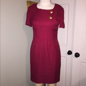Size 10P Donna Rocco NY Dark Red Slim Dress
