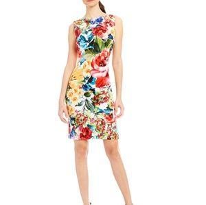 Leslie Fay Floral Printed Sheath Dress