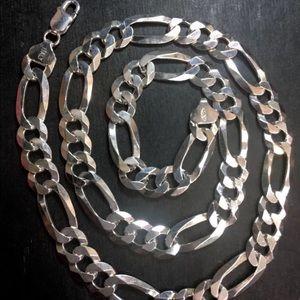 Jewelry - New Big Anti tarnish Solid  Silver Chain Necklace