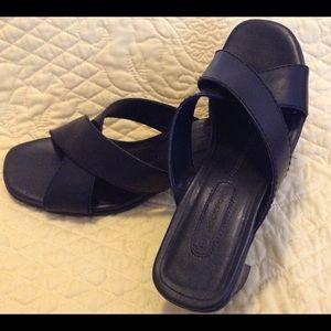 Women's Rockport Leather Slide Sandal Size 6 1/2 M