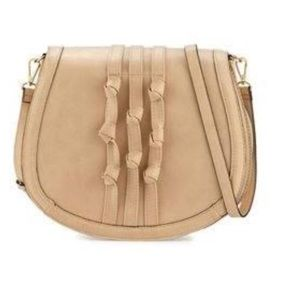 Knotted faux leather saddle bag brand new! ❤️