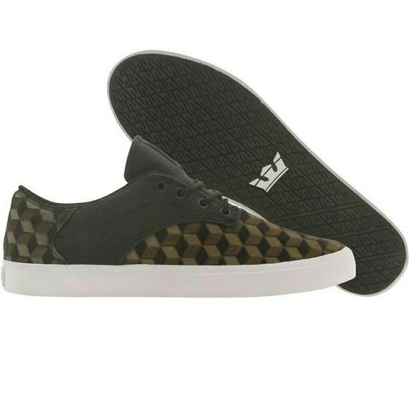 178f1cd285ac NWT Supra Men s Pistol Olive Black White Sneaker