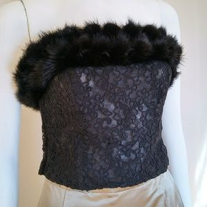 Fox Fur Corset Top