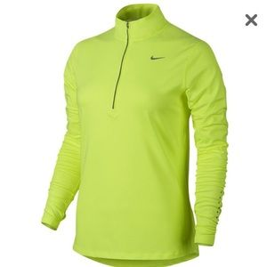 Nike dri fit element half zip pull over running to