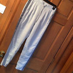 Cream athleta tuxedo stripe pants