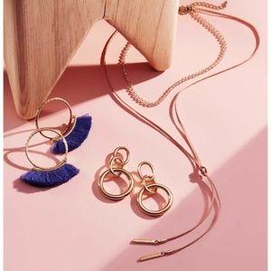 AQUA Lily Wrap Choker Necklace