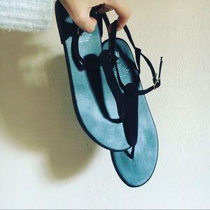All black H&M sandals