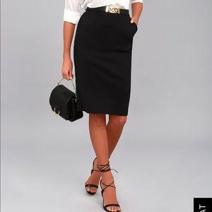 Black Lulu's bodycom midi skirt -Daily Wonder